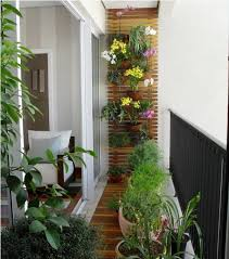 wooden floors and walls work best with your potted plants and flowers balcony furnished small