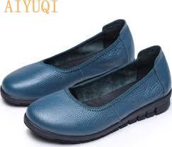 <b>AIYUQI</b> 2020 spring natural genuine leather <b>women</b> flat shoes black ...