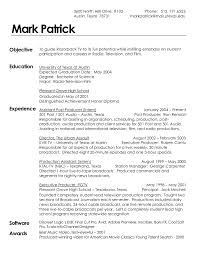 resume format for film industry professional resume cover letter resume format for film industry film production resume sample monster resume sample for film industry like