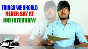 things we should never say at job interview comedy video shaa things we should never say at job interview comedy video shaa mohd gopi raj
