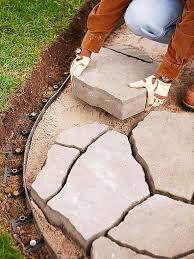 stone patio installation: how to install a flagstone paver patio