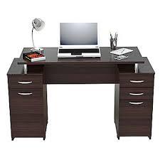inval america standard pedestal computer desk espresso wengue es0403 besi office computer desk