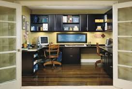 1 Tag Contemporary Home Office With Builtin Bookshelf High Ceiling Hardwood Floors