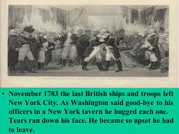 「1783 Last British soldiers leave New York」の画像検索結果