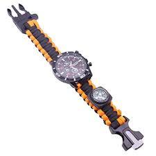LRWEY All in 1 <b>Outdoor Survival</b> Bracelet <b>Watch Multifunctional</b> ...