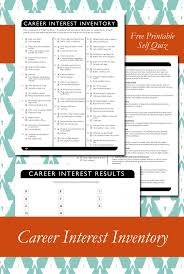 17 best ideas about career assessment tools career career interest inventory printable