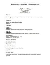 resume examples  resume examples for first job basic resume        related experience resume examples  sample resume high school with no work experience for overview with experience and