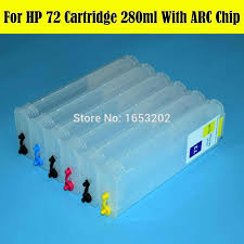 280ML With Auto Reset Chip <b>Refill</b> Ink Cartridge For HP <b>HP72 72</b> ...