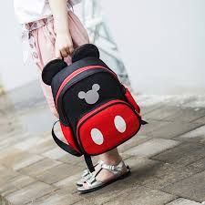 2019 Girls <b>Backpack</b> Mickey Minnie Cartoon Shoulder School Bag ...