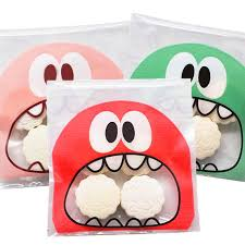 <b>50Pcs Cute Big Teech</b> Mouth Monster Plastic OPP Bag Wedding ...