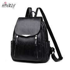 Black Women <b>Pu Leather</b> Backpack <b>2021 New</b> Women's Backpack ...