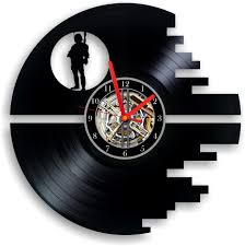 wars vinyl record clock wall
