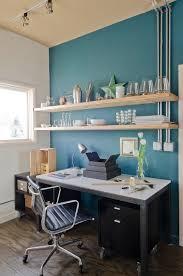 modern desk organizer in home office modern with blue accent wall blue modern home office