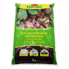 <b>Грунт для декоративно-лиственных</b> растений Florizel 5 л в ...