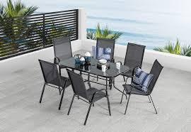 BLACK SAILOR <b>7 Piece Outdoor</b> Setting | Amart Furniture