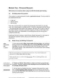 099 week 1 writing personal recount essays