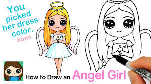 How to Draw an Angel <b>Cute Girl</b> - YouTube