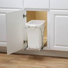 Kitchen Cabinet Garbage Drawer Amazoncom Household Essentials Under Cabinet Double Sliding