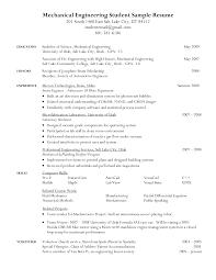 Cv For Mechanical Technician Mechanical Engineering Resume Sample