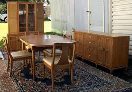 1950 Dining Room Furniture Modern Walnut Dining Room Set Brass Lantern Antiques