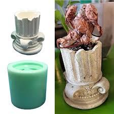 Ancient Greek Pillars <b>Flower Pot Epoxy Resin Silicone</b> Mold 3D ...