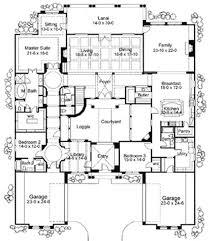 Plan WG  Exciting Courtyard Mediterranean Home Plan    courtyard home plans       Corner Lot  Spanish  Luxury  Mediterranean House