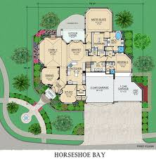 Horseshoe Bay House Plans   Home Plans By Archival DesignsArchival Designs Luxury House Plan Horseshoe Bay First Floor