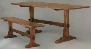 english oak pub table: a classic simple beautiful english pub table and matching bench built and given a distressed antique finish by us design adapted from a th century