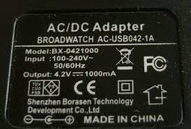 AC-<b>USB charger</b> DC4.2V / 1A Output (<b>PSE</b> authentication): Amazon ...