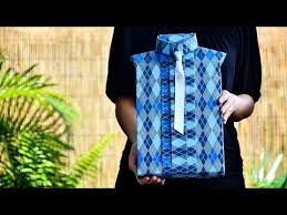 Shirt Style Gift Wrapping - YouTube