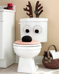 pcs elk christmas toilet sets