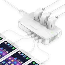 Poweradd 4 USB Ports <b>Power Converter 220V to</b> 110V Voltage ...