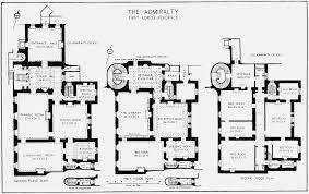Plate   Admiralty House  plans of ground  first and second    Figure   Admiralty House  plans