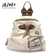 MANJIANGHONG Large Capacity Ladies Canvas Backpack ...