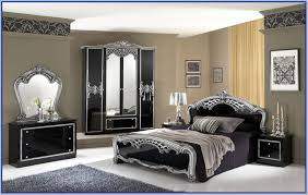 ashley furniture black and silver bedroom set black and silver furniture