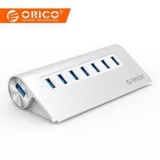 USB3.0 Hub <b>ORICO</b> Aluminum <b>7 Port</b> Super Speed Hub with 12V ...