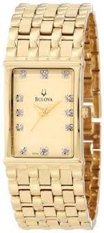 mens diamond watches techno master diamond watch 1ct tm 2134 a buy bulova men s 97f52 diamond accented gold tone steel watch