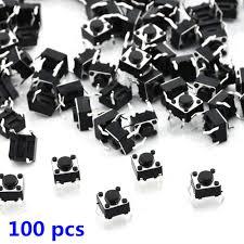 <b>100Pcs</b> 6x6x4.5mm 4Pin Panel PCB Momentary Tactile Tact <b>Push</b> ...