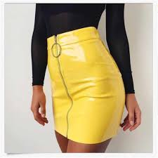 <b>2018 New Arrival</b> Summer Women <b>PU</b> Leather Pencil Skirts High ...