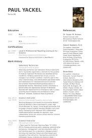 veterinary technician resume samples veterinary technician resume examples