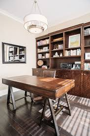 kitchen cabinets home office transitional: cool desk home office transitional amazing ideas with dark wood desk round light fixture