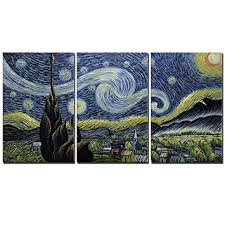Amei <b>Art Paintings</b>, 20''30'' 3 Piece Hand-Painted on Canvas <b>Blue</b> ...