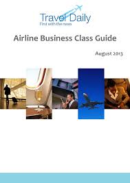 airline business class guide travel daily airline business guide cover page 2013