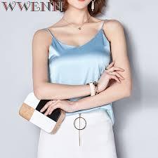 WWENN Harness Silk Blouse Shirt Women Tops 2019 <b>High Quality</b> ...