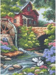 """<b>Набор</b> для вышивания гобеленовым швом """"<b>Old</b> Mill Cottage ..."""