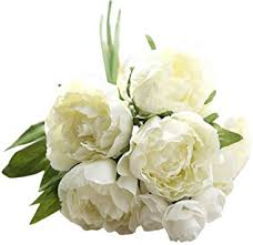 Paymenow Artificial Flowers, Artificial Fake Flowers <b>Peony</b> Bouquet ...