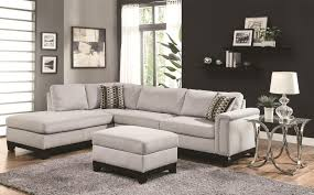 fashionable interior design of small apartment living room ideas with featuring light grey plain fabric sectional affordable chic affordable chaise indoor
