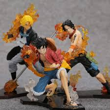 Online Shop <b>Anime One Piece</b> Attack Styling Luffy + Sabo + Ace ...