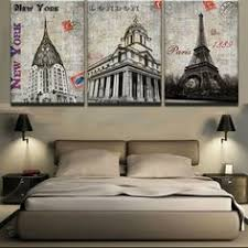 3 Pieces France City Building Boats Sights <b>Canvas Paintings</b> | 3 ...
