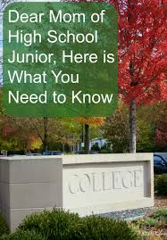 dear mom of high school junior senior year virtual high school junior year in high school is a voyage of discovery these are the first steps